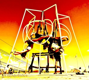 Quantum Playground Aerial Yoga Swings Red