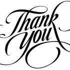 A BIG THANK YOU…
